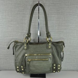 Linea Pelle Green Shoulder Bag